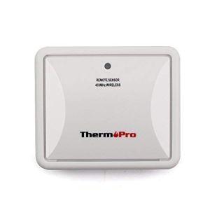 ThermoPro TP60 Capteur à Distance de Thermomètre Hygromètre, Émetteur Extérieur pour TP60S, TP63A, TP65, Blanc