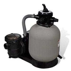 Tuduo Pompe avec Filtre à Sable 600 W 17 000 l/h Pompe Filtre Piscine