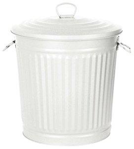 Verdemax 287535x 35x 37cm coloré Poubelle–Blanc (1-)