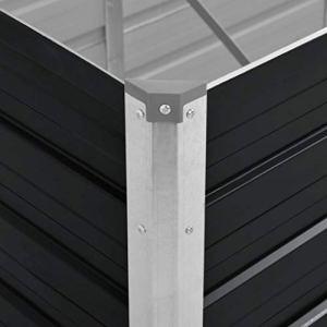 vidaXL Jardinière surélevée en Acier galvanisé 240 x 80 x 77 cm