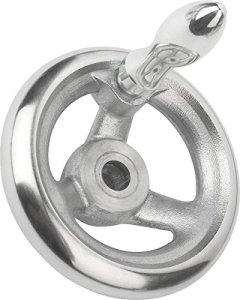 Volant sans écrou à bascule aluminium, Komp: Aluminium, D2= 14, D1= 125, 1pièce, k0160.4125x 14