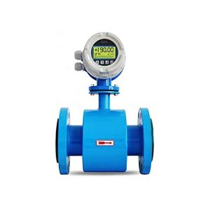 Wangwen Débitmètre électromagnétique de Sortie 4-20 mA pour écrans LCD, eaux usées Chimiques, Robinet, Solution Acide alcaline (DN350 / PTFE), DN65/PTFE