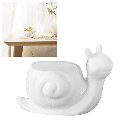 WBFN 1PCS Pots de Fleurs Pots Multi-Viande en céramique Pot Creative charnue Forme Potted Bureau Escargot Fleur Animaux Plantes d'ornement Craft Pot sans Chair (Color : 1)