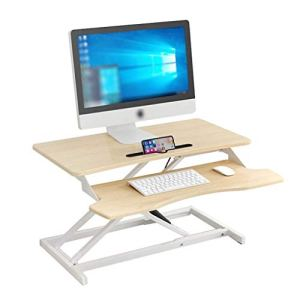 YWAWJ Levage réglable en Hauteur et Table Pliante Debout Hauteur Bureau réglable Workbench Moderne Minimaliste Table Pliante – Convient for la Maison et de Bureau (Color : White)