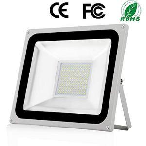 100W Projecteur LED Extérieure Imperméable IP65 Spot à LED Extérieur 10000LM Blanc Froid 6500K lumière de sécurité Exterieur pour Jardin Cour Garage Terrain de jeux [Classe Énergétique A +]