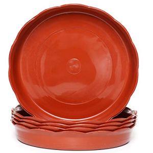 Aeepd – Soucoupes en plastique pour pot de fleurs – Pour jardin, intérieur et extérieur – Terre cuite – 15/20/25/30 cm 6 inch-16cm bottom diameter terre cuite