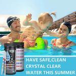Bandelettes de test de piscine 6 en 1 Test de qualité de l'eau du spa pour le pH, le chlore total, le chlore / brome libre, l'alcalinité totale, l'acide cyanurique l'eau de dureté totale 100 pièces