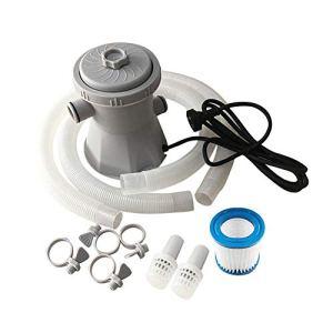 BJZP Pompe à Filtre électrique pour Piscine, Pompe à Filtre Plus Propre pour Pompe à Eau de Pompe de Filtre de Circulation de Piscine HS-630 pour Piscine