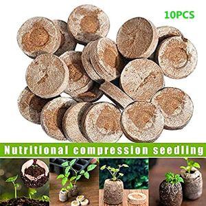 EXPLOSION 10 PCS 30mm Semis Bloc de Sol Nutrition Comprimé Non-tissé Tissu Tourbe Cordon Plug Pellets Semences Croissance Jardinage Plante