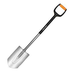 Fiskars 1003684 Bêche a bord pointu, Noir/Orange, Longeur: 108 cm