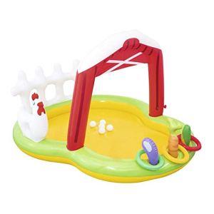 Gaz Océan Piscine à balles Piscine à toboggan Piscine pour enfants Épaississement Pêche à sable Piscine à jets Piscine familiale Par une chaude journée, il y a de l'eau rafraîchissante dans la piscine