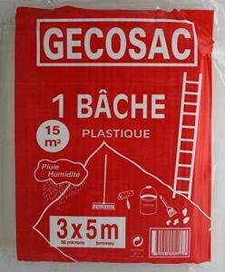 Gecosac Bâche de Protection polyéthylène translucide 3 x 5 mètres 50 microns épais, Universel