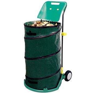 Gr8 Garden 271149 Grand Chariot à déchets d'extérieur Pliable et Rond Vert Noir