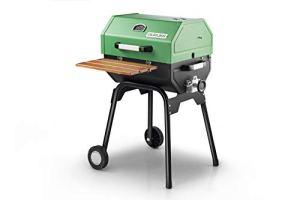 Guruss Barbecue CG-50 Barbecue avec capot, tablier et affichage de la température vert