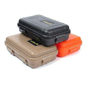 iEay 3pièces Petite boîte Mini EDC Outil extérieur kit de Survie Sealed Box résistant aux Chocs et de Pression Proof étanche Field de Survie Outils Boîte de Rangement