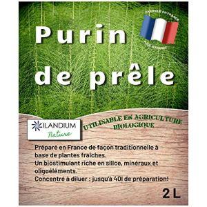 ILANDIUM Purin de prêle, 2L, Produit Liquide concentré Made in France, jusqu'à 40 L de préparation, Un biostimulant Naturel pour Le Traitement des légumes, Fleurs, et Arbres fruitiers de façon Bio