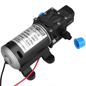Keenso Pompe à Eau d'Amorçage de Diaphragme à Haute Pression Automatique de DC 12V 100W 8L / Min Soupape Intelligente de 160Psi avec le Commutateur de Pression