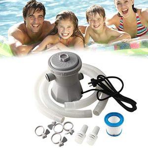 Kit pompe à filtre pour piscine – Pompe de vidange pour jacuzzi – 300 gallons au-dessus de la pompe à eau électrique – Pompe à filtre de circulation – Pour bassin, piscine, jacuzzi – 16 x 16 x 19,5 cm