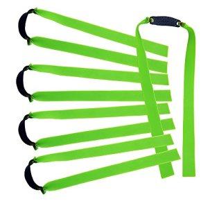 Lot de 10 bandes élastiques plates Mangobuy – En caoutchouc – Fuselées – Remplacement pour lance-pierre d'extérieur en bois – Pour chasse -, Green
