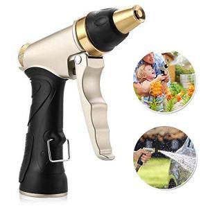 Pistolet D'arrosage, Aodoor Haute Pression Métal Pulvérisateur de Jardin pour Arrosage Plantes Lavage Voitures Jardinage Nettoyage