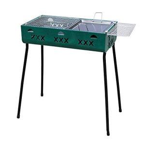 Plaisir Barbecue portable d'extérieur, convient pour l'intérieur, la cour, l'escalade, l'extérieur, les randonnées, les pique-niques, 60 x 32 x 70 cm