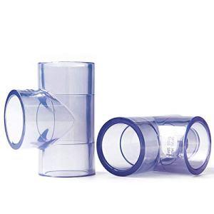 Raccords de tuyauterie 20 mm 25 mm 32 mm 40 mm 50 mm ID Transparent PVC Tube Equal Tee tuyau Joint Raccord adaptateur de tuyauterie d'eau Connecteur for l'irrigation des jardins Connexion