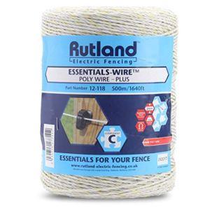 Rutland 12-118R Essentials-Bobine de fil de clôture électrique, Blanc, 18 x 17 x 17 cm