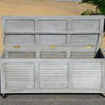 Safavieh Outdoor Collection Elina Boîte de Rangement pour Coussin 120 cm Gris