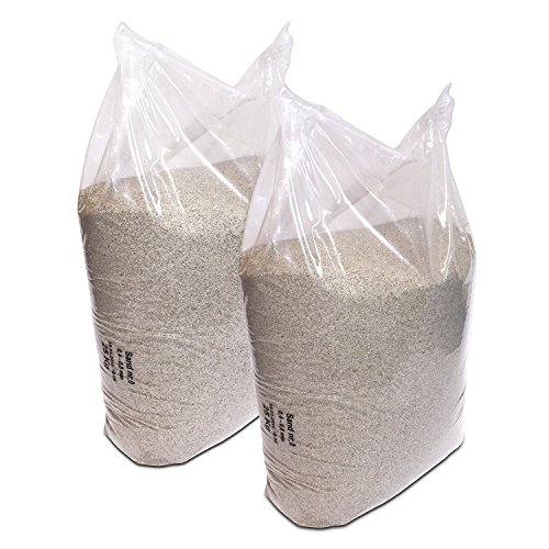 Streusand Lot de 2 sables à quartz 0,4-0,8 mm grain 25 kg