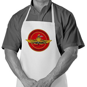 Tablier de cuisine/barbecue US Marine Corps Force Reconnaissance – Options de design – Polyester filé durable – Plus doux que le coton Us Marine 4th Force Reconnaissance Company