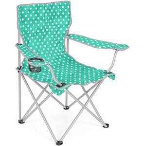 WYQ Haut de Gamme extérieur Loisirs Chaise Pliante en Acier Tube en Tissu Oxford Camping pêche Chaise Voyage Accoudoirs Beach Chair