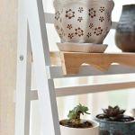 XHCP Support à Fleurs – Balcon d'intérieur en Bois Multicouche Rack Multi-Usage Tridimensionnel Durable