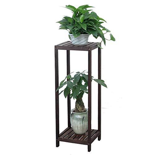 XHCP Support à Fleurs – Support à Plantes en Bois Massif Balcon intérieur Étagère Multicouche au Sol Matériau en Bois Massif tridimensionnel Durable (Taille: L)