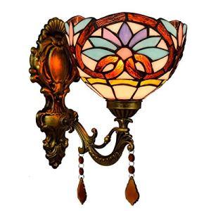 ZGQA-Lampes de bureau British Style baroque Up Miroir Front lampe classique Rétro jardin cristal de chevet Applique Aisle Balcon Applique Décoration Applique