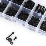 270pcs/boîte en nylon vis rondelle assortiment kit de fixations M2/M2.5/M3/M4/M5
