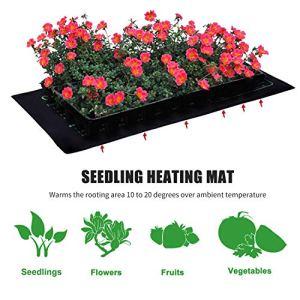 AIMCAE Tapis Chauffant pour semis de Plantes, 48″x 20″ Tampon de démarrage de Germination de Plantes hydroponiques Chaudes et imperméables d'intérieur durables