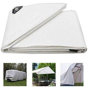 Bâche de protection en polyéthylène Sunshades Depot, bâche résistante aux déchirures imperméable aux UV, bâche de camping pour piscine de bateau de camping-car, abri de protection en tissu, 4x5m