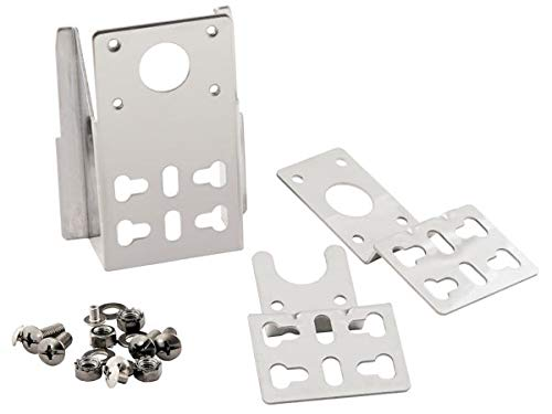 BBQ-Toro Kit de support universel en acier inoxydable pour moteur de gril pour de nombreuses grilles, y compris le matériel de fixation, montage universel avec de nombreuses possibilités de fixation.