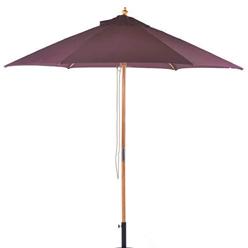 BrackenStyle Parasol de jardin en bois dur avec poulie 2.5m Plum