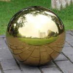 CUTICATE 2X Ornement De Jardin De Globe sans Soudure De Boule Creuse Brillante en Acier Inoxydable