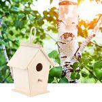 En bois nids d'oiseaux boîte de reproduction chaude, en bois oiseau boîte de reproduction chaude en plein air suspendu bois oiseau maison cage fournitures pour animaux de compagnie pour perruche jardi