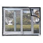 Fenêtre Anti-moustique?filet Lavable/Moustiquaire Réglable, Peut Couper La Moustiquaire De La Fenêtre En Maille Sans Percer (D,3 square meters or more)