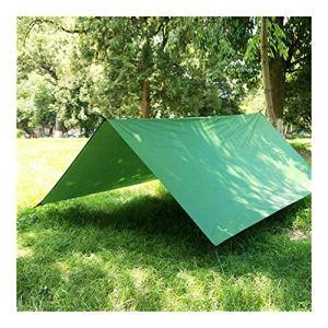 FKYNB 3X3 mètres Tissu en Tissu léger Oxford Jardin extérieur Abri Soleil imperméable été Tarp belvédères avec des Chevilles et des Cordes du Vent (Color : Green)