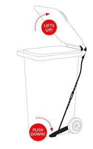 FLIDOX Pédale réglable pour poubelles pour une élimination mains libres et hygiénique des déchets
