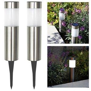 Frostfire Grande lampe solaire lampadaires (lot de 2)