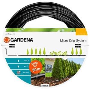 GARDENA Kit d'arrosage goutte-à-goutte pour rangées de plantes L de GARDENA: système d'arrosage Micro-Drip pour un arrosage en douceur des rangées de plantes (13013-20)