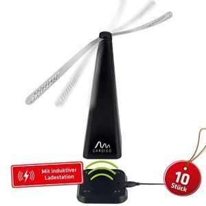 Gardigo Répulsif à Pales Multi-Insectes Pro, avec Station de Charge USB, Lot de 10 Pièces