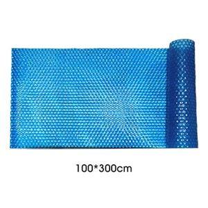 L.J.JZDY Pool Cover Piscine Solaire Couverture résistant aux UV Résistant à la Pluie antipoussière Isolation Bubble Film for extérieur Jardin Piscine (Color : Bleu, Size : 100x300cm)
