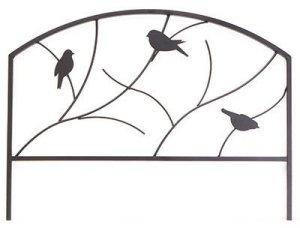 Panacea Products Corp-import 84565Bordure de jardin, chaise à motif oiseaux, EN ACIER, Noir, 18x 24-in.–quantité 12par Panacea Products