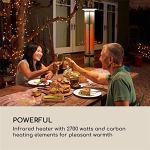 Poêle extérieur, Chauffagistes, Chauffe-carbone, infrarouge, 2700W, télécommande, LED, protection Splash